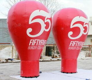 FIFTYFIVE ilmatäytteinen mainos