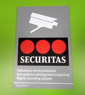 Securitas varoituskyltti