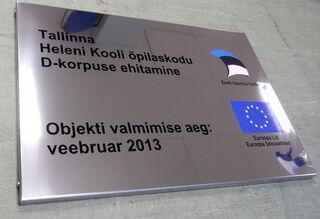Tallinna Heleni Kooli õpilaskodu mainoskyltti
