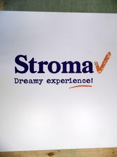 Mainoskyltti Stroma