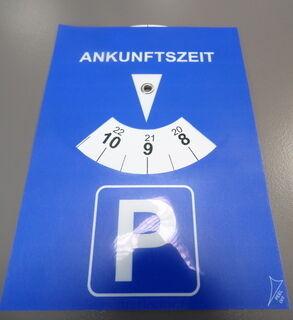 Parkkikello logolla