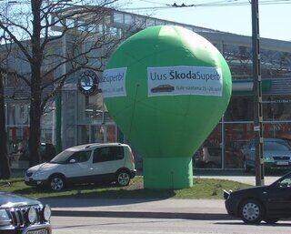 Mainosilmapallo Skoda