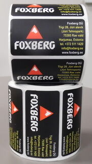 Etikettitarrat Foxberg