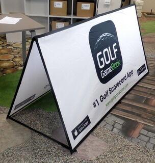 Neliömuotoinen Soft bänneri Golf GameBook