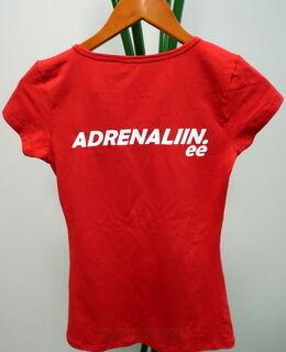 T-paita logolla Adrenaliin