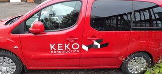 Auton teippaus Keko Construction