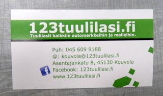 Käyntikortit 123 Tuulilasi