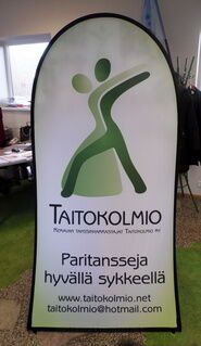 Pop-up banneri 1000x2000 mm Taitokolmio