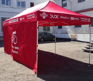 3x6 Pop up teltta logolla Jõelähtme Singel