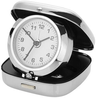 Pop-up alarm clock with pouch