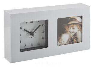 pöytä kello ja kuvakehys