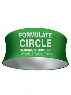 Circle Hanging Strucure Fabric Display 914x3048mm