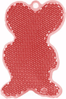 Reflector mouse 43x68mm red