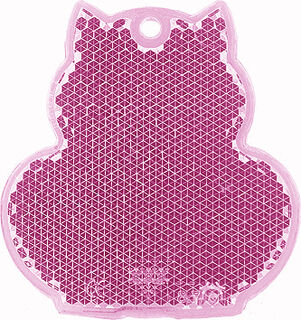Reflector cat 57x59mm pink