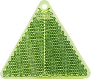 Reflector triangle 67x59mm green