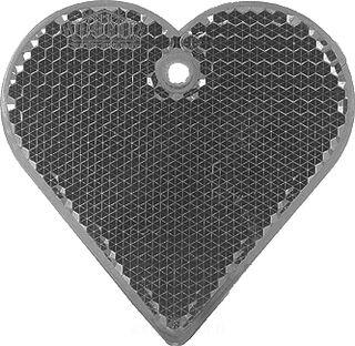 Heiastin sydän 57x57mm musta