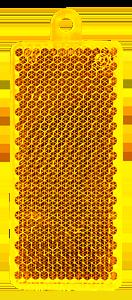 Heiastin suorakaide 32x78mm keltainen